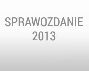 Sprawozdanie z działalności za rok 2013