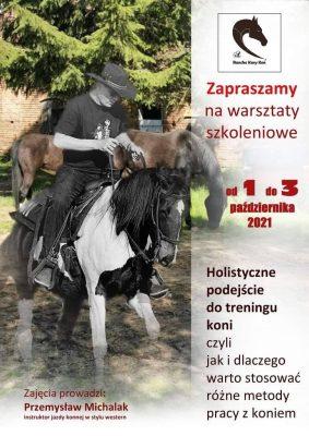 Plakat-zaproszenie na warsztaty szkoleniowe