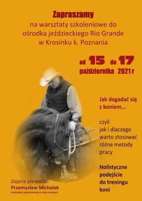 Zaproszenie na warsztaty w Krosinku